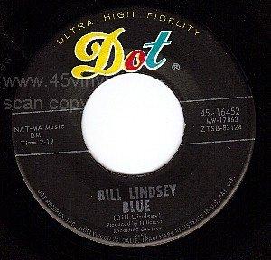 NM DOT 16452 45 BILL LINDSEY ~ Blue ~ Winter Love