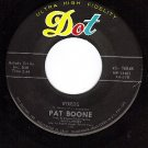 DOT 16048 45 rpm PAT BOONE ~ Words ~ New Lovers
