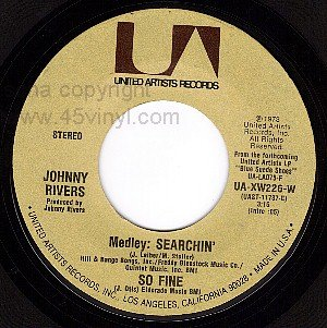 NM UA XW226 JOHNNY RIVERS Searchin/New York City Dues