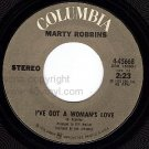 NM COLUMBIA MARTY ROBBINS 45668 I've Got A Woman's Love