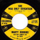 COLUMBIA 45 MARTY ROBBINS 41208 She Was Only Seventeen
