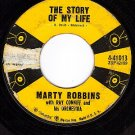 COLUMBIA 45 MARTY ROBBINS 41013 The Story Of My Life