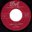 NM DOT 1188 45 THE COUNTS Need You Always/Darling Dear