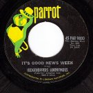 PARROT 9800 HEDGEHOPPERS ANOYMOUS ~ It's Good News Week