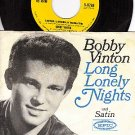 EPIC 9768 45 + PS BOBBY VINTON Long Lonely Nights/Satin
