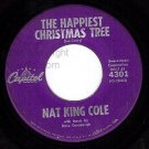 CAPITOL 4301 NAT KING COLE Happiest Christmas Tree/Buon