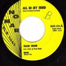 NOMAR 103 MAXINE BROWN All In My Mind/Harry Let's Marry
