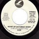 NM 45 PROMO LIFESONG 1765 DION Heart Of Saturday Night