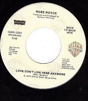 NM WB ROSE ROYCE Love Dont Live Here Anymore/Wishing On