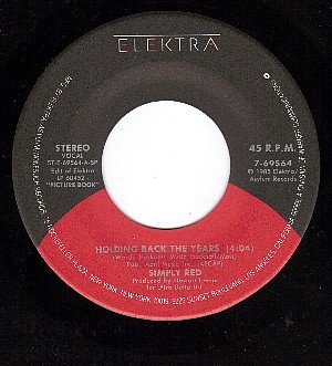NM 45 ELECTRA SIMPLY RED Holding Back The Years/I Wont