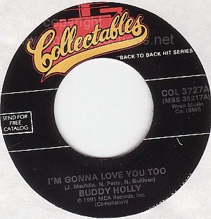 M- 45 rpm BUDDY HOLLY I'm Gonna Love You Too~ Heartbeat