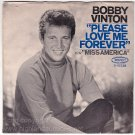 PICTURE SLEEVE PS ~ BOBBY VINTON Please Love Me Forever