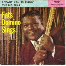 PS IMPERIAL 5477 FATS DOMINO I Want You To Know/Beat