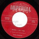 NM IMPERIAL X5454 FATS DOMINO When I See You/My Heart