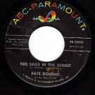 NM ABC 10484 FATS DOMINO Red Sails In The Sunset ~ Song