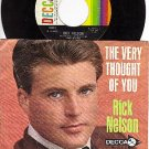 DECCA 31612 45+ PS RICK NELSON The Very Thought Of You