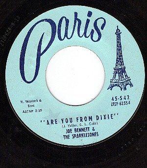 PARIS 542 JOE BENNETT/SPARKLETONES ~ Are You From Dixie