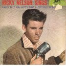 PICTURE SLEEVE IMPERIAL 5463 RICKY NELSON Have I Told