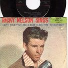 IMPERIAL 5463 45+ PS RICKY NELSON ~ I Told You Lately