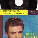 NM 45+ PS IMPERIAL 5595 RICKY NELSON ~ Sweeter Than You