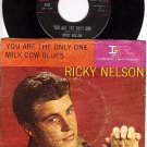 NM 45 + PS IMPERIAL 5707 RICKY NELSON You Are The Only
