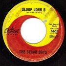 CAPITOL 5602 THE BEACH BOYS Sloop John B/So Good To Me
