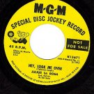 PROMO MGM K13671 JULIUS LA ROSA Hey Look Me Over/Music