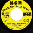 PROMO 45 MGM K13672 JULIUS LA ROSA ~ Gonna Hear From Me