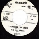NM END 1096 DELL SATINS I Remember The Night/I'll Pray