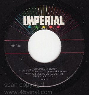 IMPERIAL 158 EP 45 + PS RICKY NELSON Unchained Melody