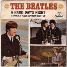 CAPITOL PICTURE SLEEVE BEATLES 5222 A Hard Day's Night