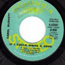 PROMO COLUMBIA 4-45481 CAROL BURNETT Could Write A Song