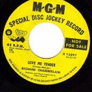 MGM DJ K13097 RICHARD CHAMBERLAIN Love Me Tender/Dream