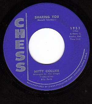 CHESS 1953 45 rpm MITTY COLLIER Sharing You ~ Walk Away