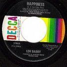 NM 45 DECCA 31889 LEN BARRY ~ Like A Baby ~ Happiness