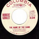 PROMO COLUMBIA 4-43029 ROBERT GOULET ~ Name Of The Game