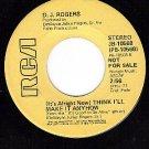 PROMO 45 RCA 10568 D.J.ROGERS Think I'll Make It Anyhow