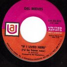 UA 50332 DEL REEVES If Lived Here/Looking At The World