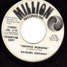 PROMO 45 rpm MILLION 19 RAYBURN ANTHONY Memphis Morning