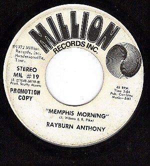 PROMO 45 rpm MILLION 19 RAYBURN ANTHONY Memphis Morning