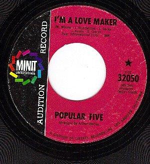 PROMO 32050 MINIT POPULAR FIVE I'm A Love Maker/little