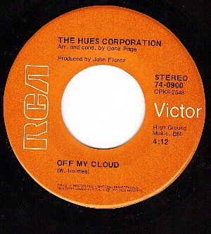 RCA 0900 HUES CORPORATION Off My Cloud/Freedom For The