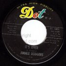 NM DOT 16861 45 JIMMIE RODGERS It's Over/Anita Dreaming
