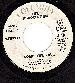 PROMO 45 COLUMBIA 4-45654 THE ASSOCIATION Come The Fall