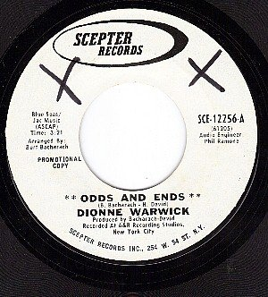 NM 45 PROMO SCEPTER 12256 DIONNE WARWICK Odds And Ends