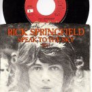 CAPITOL 340 45 + PS RICK SPRINGFIELD ~ Speak To The Sky