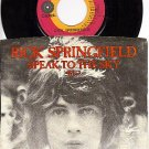 CAPITOL 3340 45 + PS RICK SPRINGFIELD Speak To The Sky