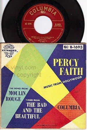 NM COLUMBIA EP B-1693 45 + PS PERCY FAITH Bad Beautiful