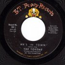 BT PUPPY 502 45 rpm THE TOKENS He's In Town ~ Oh Cathy