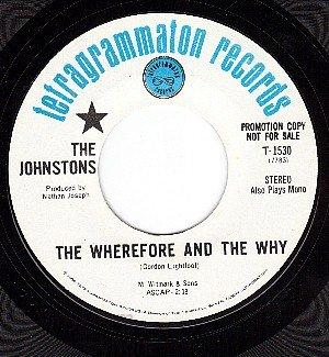 PROMO TETRAGRAMMATON 1530 JOHNSTONS ~ Wherefore And The